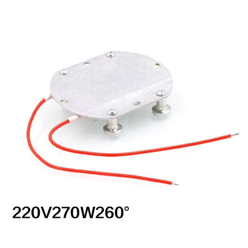"""עופרות 1pc / 2pcs החדש 220V LED מסיר BGA הריסת שבב ריתוך הלחמת תחנת חימום אלומיניום PTC לוח 74 * 63 * 7 מ""""מ (4)"""