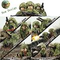 Newest 6PCS Military Armed Assault Camouflage Soldier Figures Building Block Set Military Weapon Camouflage Net Model brick Toy