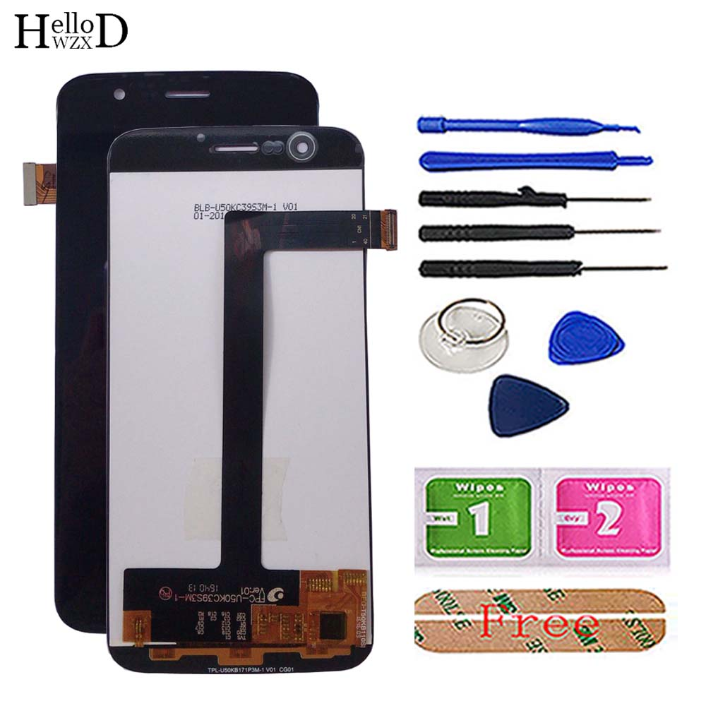 "5.0"" Phone LCD Display For Vernee Thor LCD Display Touch Screen Digitizer Panel TouchScreen Front Glass Tools 3M Glue Wipes-in Mobile Phone Touch Panel from Cellphones & Telecommunications"