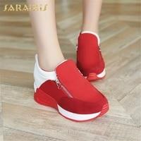 Sarairis New Fashion Dropship Breathable INS Sneakers Woman Shoes Zipper Comfortable Shoes Woman Vulcanize Shoes Women