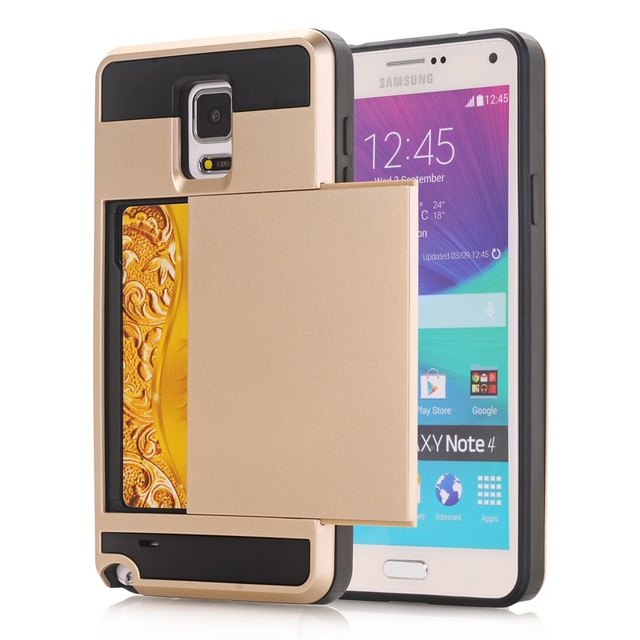 best sneakers 9d1bf 01f27 US $3.17 14% OFF|Hybrid Armor Slide Case Hidden Card Holder Phone Case For  Samsung Galaxy Note 3 4 5 S3 S4 S5 S6 S7 Edge Plus PC TPU 2 in 1 Cover-in  ...
