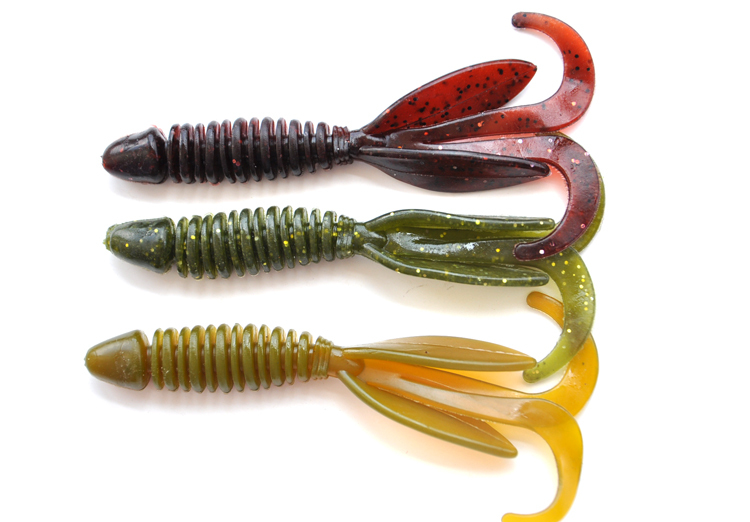 20pcs size 11cm centipede soft fishing lures lizards for Rubber fishing worms
