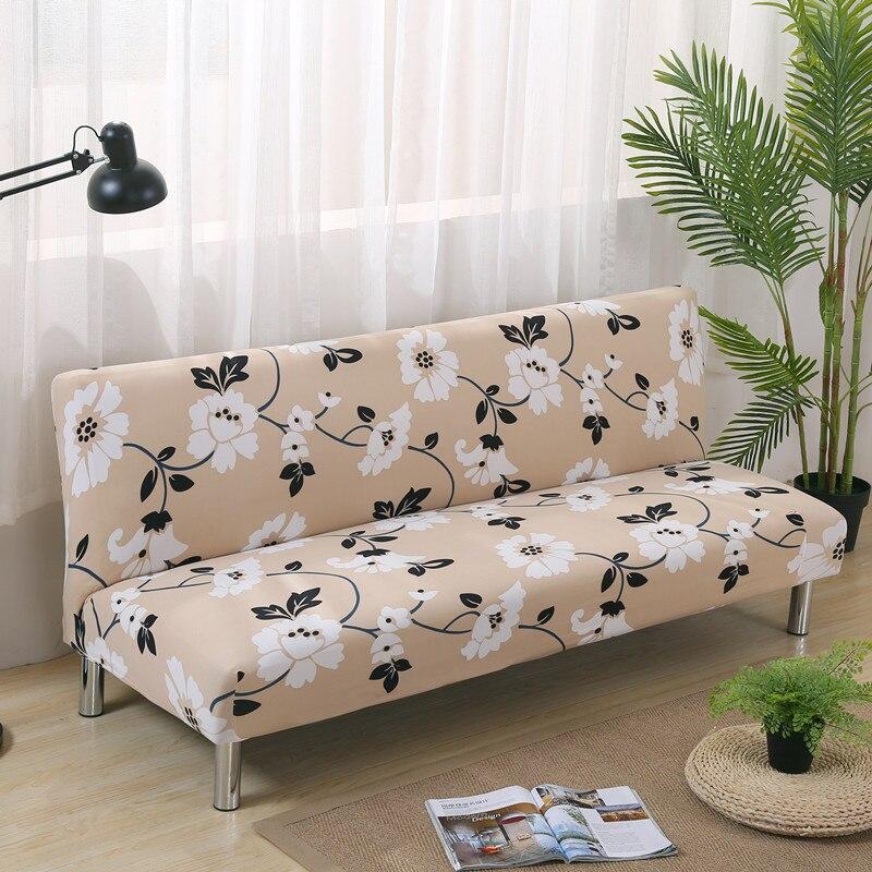 Stretch Sofa Covers Elastic No Handrail Folding Sofa Bed