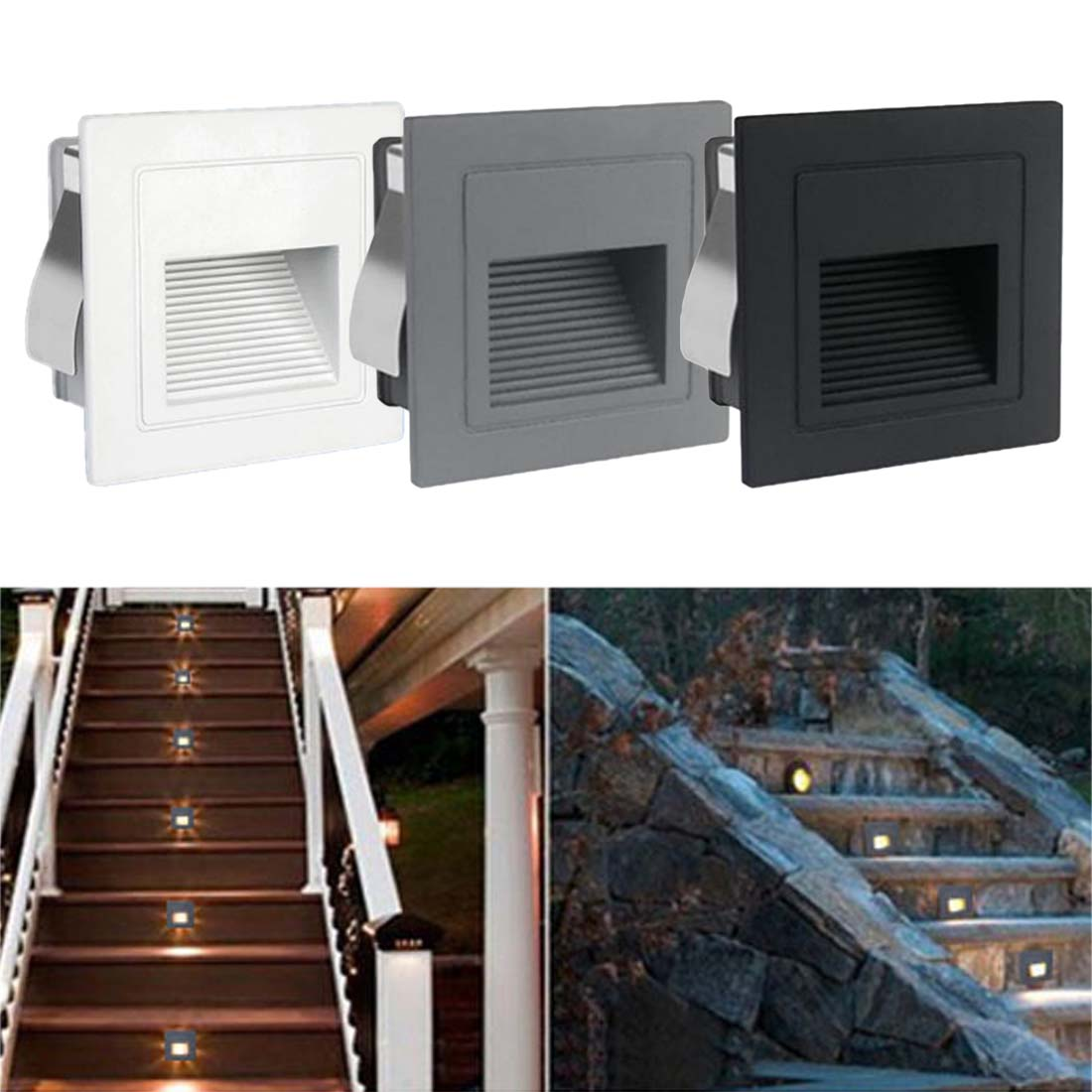 Lighting Basement Washroom Stairs: Indoor PIR Motion Sensor LED Stair Light Recessed Steps