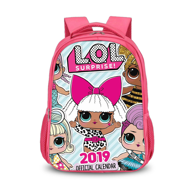 a700f020ab Student Kids Cartoon LOL Dolls School Bag Pink Backpack For Girls Schoolbag lol  dolls glitter series 4 Book Bags Laptop Backpack