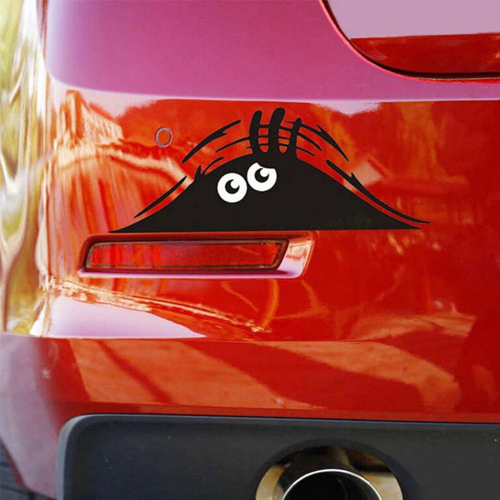 Funny Waterproof Removable Car Sticker Scratch Cover Decal Auto Decoration Funny Peeking Monster 3d Big Eyes Car Stickers