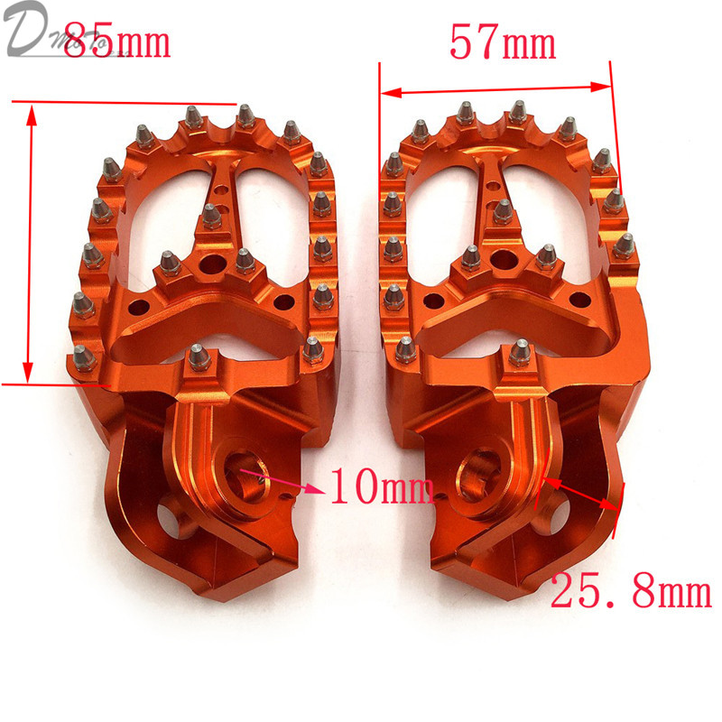 Billet CNC Foot Pegs Pedals Rests  For KTM EXC SX SXF XC XCW EXCF EXCW XCFW MX SIX DAYS 65 85 125 250-530 MX Enduro