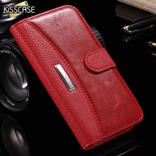 KISSCASE Business Leather Phone Case For iPhone X XS 8 7 6 6S Plus Phone Stand Holder Case For iPhone 7 6 6S 8 Plus X 5 5S SE