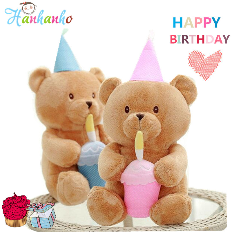 New Arrival Bear Plush Toy Kids Birthday Party Supplies Baby Soft Doll Brown Teddy Bear Stuffed Animal Children Gift 40cm стоимость
