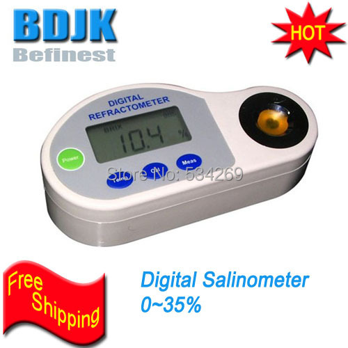 0-35% Digital Salt Meters with Auto Temperature Compensation Free Shipping 0 1999us digital conductivity meters with auto temp compensation pocket con tester
