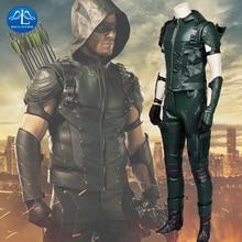 New Arrival Green Arrow Season 4 Oliver Queen Cosplay Costume Hoodies Jacket Mens Costume Superhero Cosplay in Halloween цена и фото