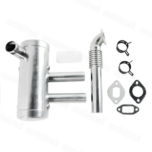 Image 2 - EME 40 80CC Rear Exhaust Pipe Muffler Set For Fixed Wing Gasoline Engine Parts