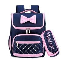 Милый Бант принцесса школьные рюкзаки для девочек Дети школьный ранец сумки для детского сада Mochila Escolar рюкзаки