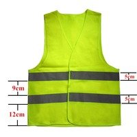 Reflective Fluorescent Vest High Visibility Outdoor Safety Clothing Running Contest Vest Safe Light Reflective Ventilate Vest