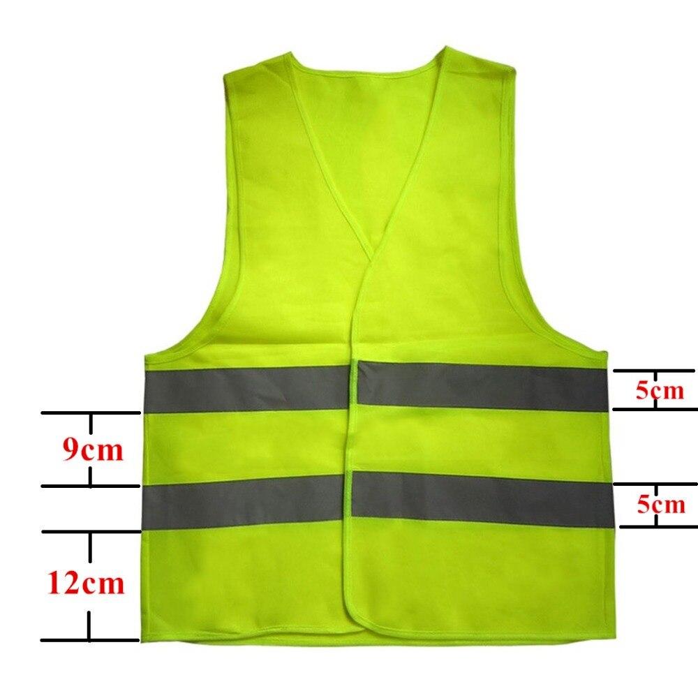 Reflective Fluorescent Vest High Visibility Outdoor Safety Clothing Running Contest Vest Safe Light-Reflective Ventilate Vest