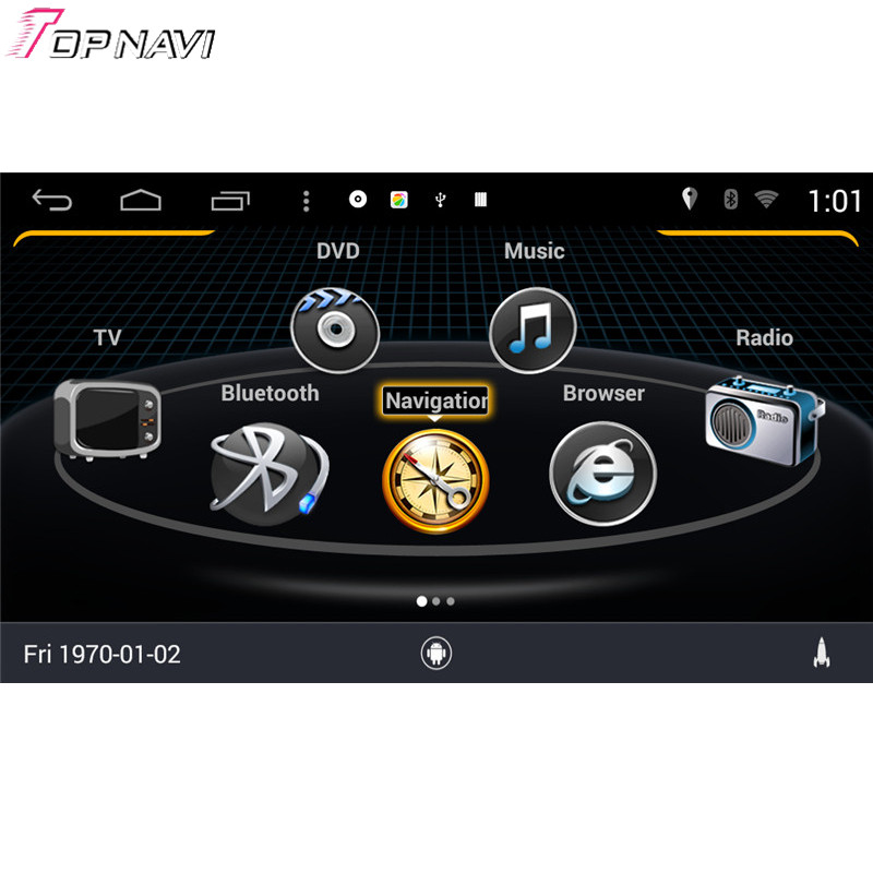 Topnavi S160 Quad Core Android 4.4 Car DVD Multimedia Player for S Class Old For Benz Audio Radio Stereo 2DIN GPS Navigation