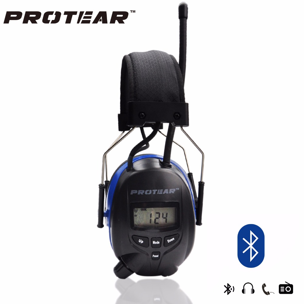 Lithium battery Bluetooth Electronic Shooting Ear muffs Hearing Protection FM AM Radio Ear Defenders Tactical Protector