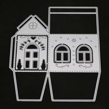 house frame Metal Cutting Dies Decor Scrapbooking Craft For Diy Embossing Paper Cards making Stencils clear stamps and dies set(China)