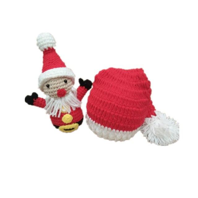 Sombrero del bebé de la Navidad Papá Noel muñeca bebé foto apoyos ...