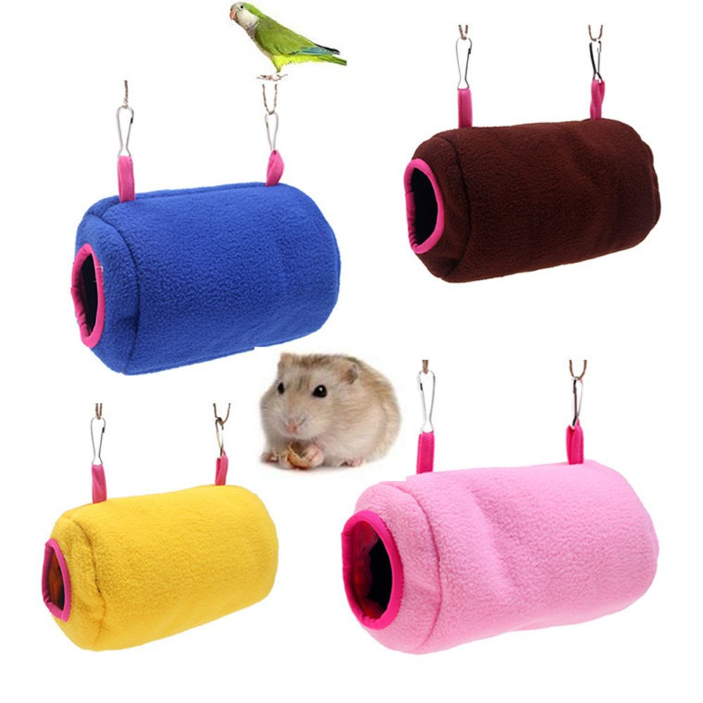 Small Animals Cages Tunnel Warm Soft Pet Fleece Sleep Bed Nest for ...