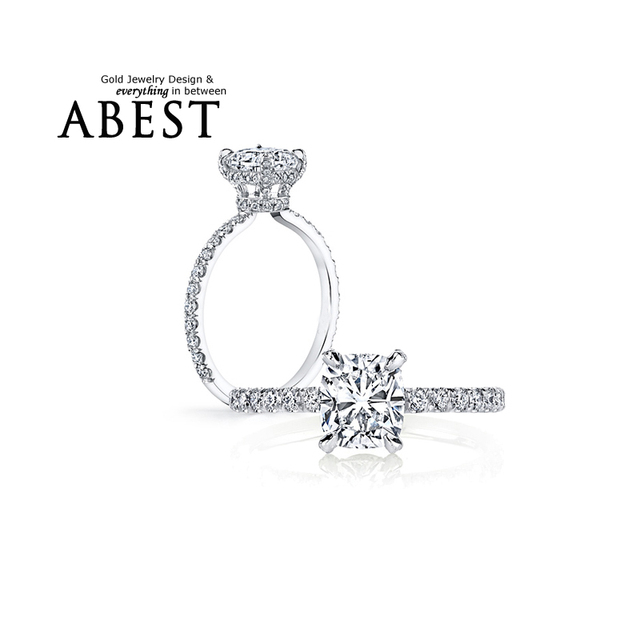 3 Carat Cushion Cut Ring 925 Sterling Silver Sona Ring Finger nscd Synthetic Created Diamond Women Jewelry Wedding Engagement