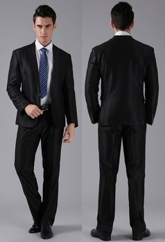 Side Vent Slim Fit Business Men Suits Daily Work Wear Elegant Groomsman/Best Man Wedding/Prom Tuxeods ( Jacket+Pants+Tie)