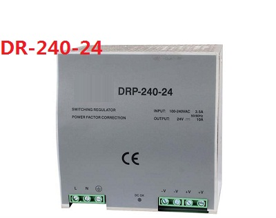 Din rail type 240W 24v 10A single output switching power supply ac-dc smps for led light, cnc cctv, model: DR-240-24 dr 240 24 high quality single output led dc 240w 24vdc 10a din rail power supply transformer switching power supply