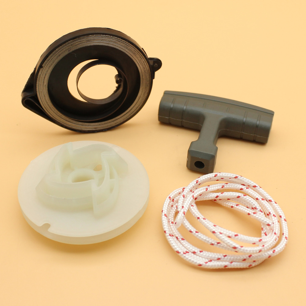 Recoil Starter Spring Pulley Grip Rope Service Kit Fit Husqvarna 353 351  350 346XP 345 340 Chainsaw Parts