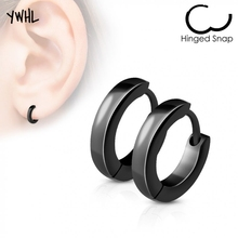 kpop minimalist punk gothic black mens titanium steelearrings,hypoallergenic earings for women fashion jewelry wholesale
