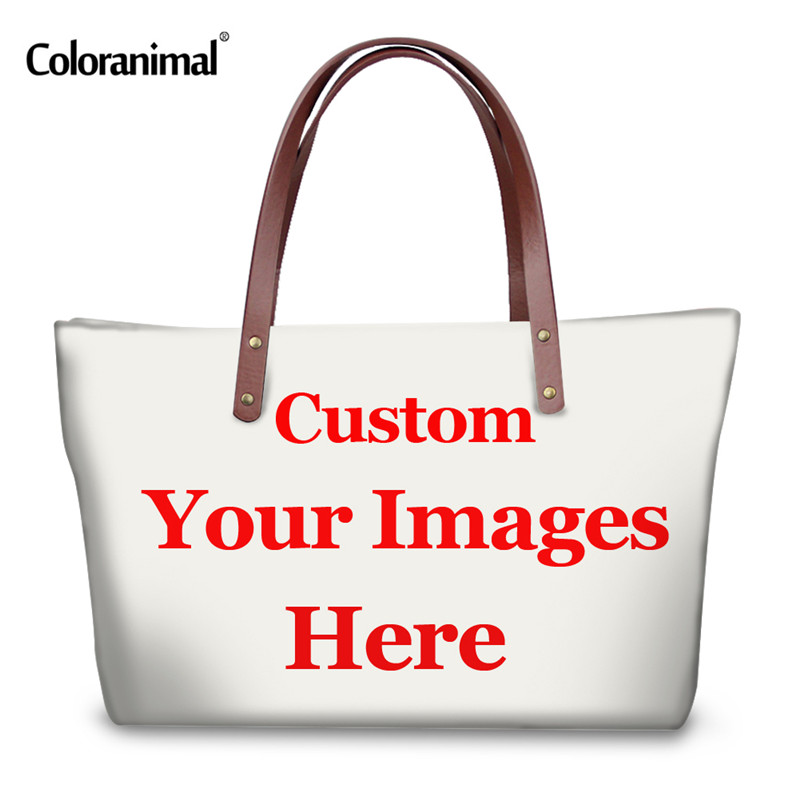 965282d07a46 US $23.99 20% OFF|Coloranimal Cute Cartoon Female Handbags Neoprene Large  Women Shopping Travel Shoulder Bag Portable Funny Emoji Face Tote Bags-in  ...