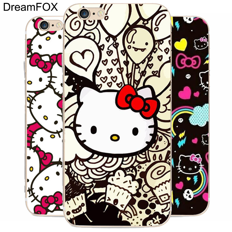 K119 Hello Kitty Transparent Hard Thin Case Cover For Apple iPhone 7 6 6S Plus 5 5S SE 5C 4 4S