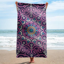 GNORRIS Custom Sand Free Microfiber Mandala rectangle Beach Towel Blanket - Quick Dry Super Water Absorbent Yoga mat