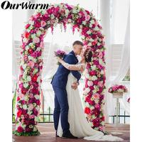 OurWarm Metal Wedding Arch Stand Backdrop Pergola Garden Decor Flower With Frame Marriage Birthday Wedding Party Decoration DIY
