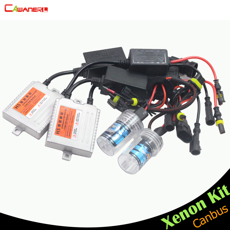 Cawanerl H8 H9 H11 55W Canbus HID Xenon Kit No Error Ballast Bulb AC 3000K-15000K Car Fog Light Headlight Daytime Running Lamp