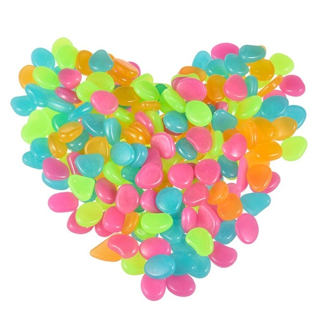 Colorful Fluorescent Garden Pebbles Set