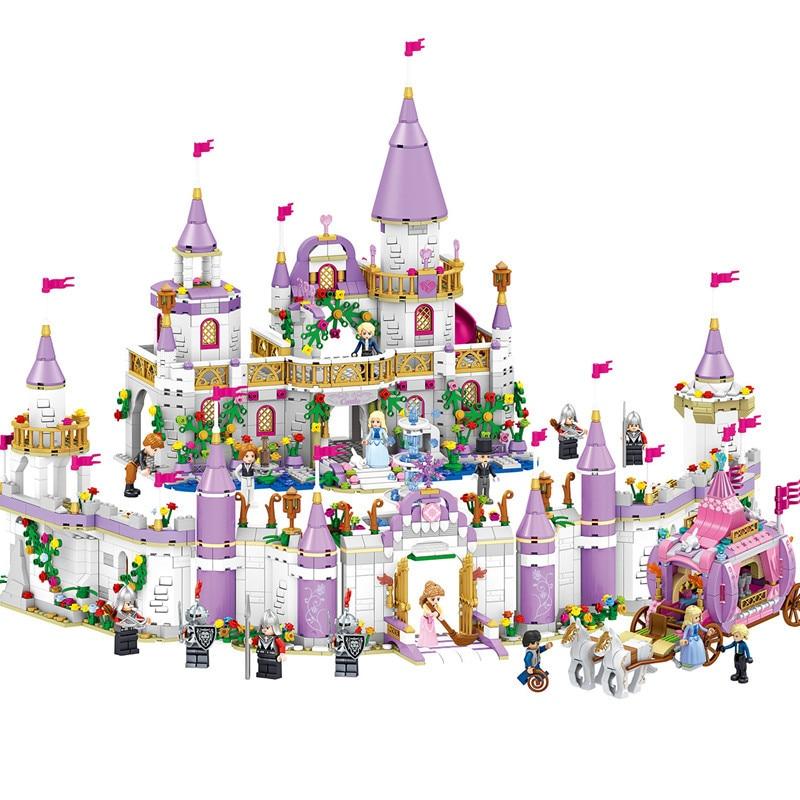 731pcs LegoINGs Friends City Romantic Castle Princess Friend Girl Building Blocks Sets Bricks Educational Toys for Girls