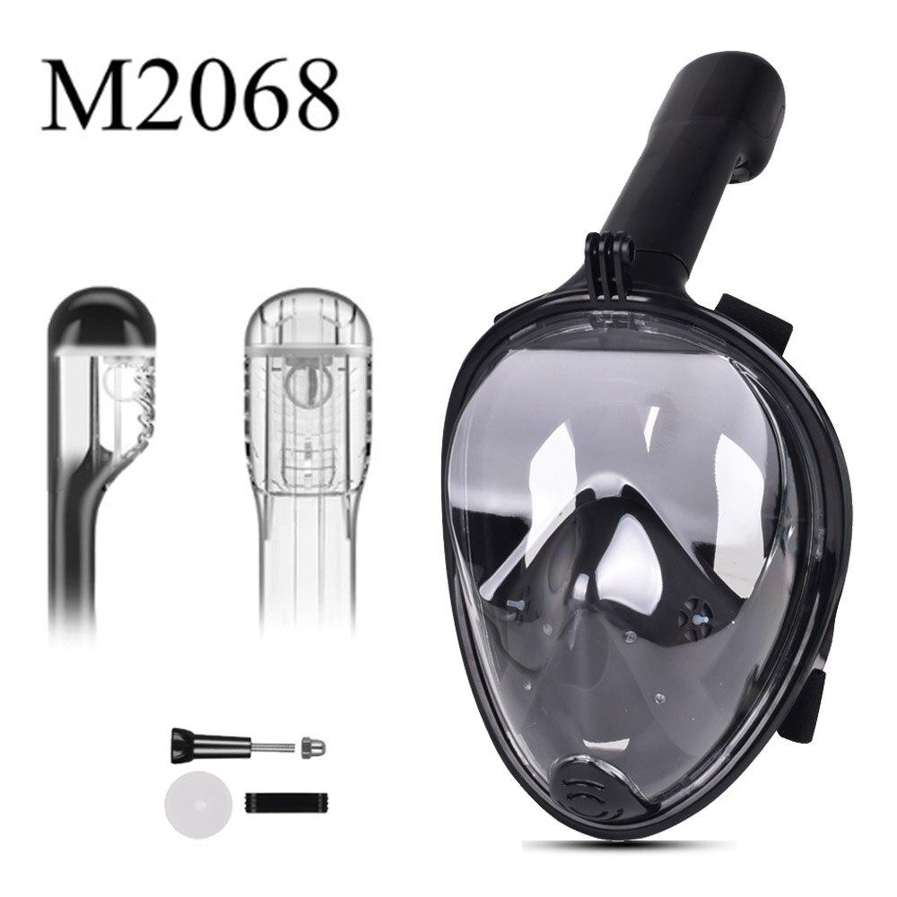 2019 nouveau masque de plongée en apnée plein visage ensemble plongée sous-marine masque de natation formation plongée sous-marine Mergulho masque de plongée pour caméra Gopro - 2