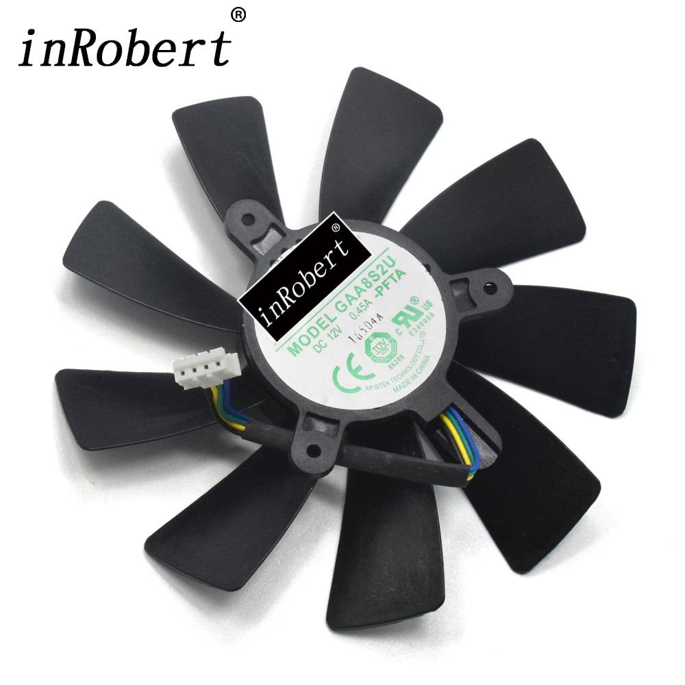 100mm GAA8S2U -PFTA 4Pin 43mm Cooling Fan Replace For ZOTAC 1080 Mini GTX 1080 Graphics Card Cooler Fan for inno3d gt240 graphics card cooling fan tk cf 12915b fan diameter 86mm
