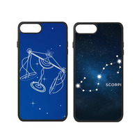 Libra Pisces Sagittarius Scorpio Taurus Virgo Universe Star Zodiac Sign Phone Case For IPhone X 7