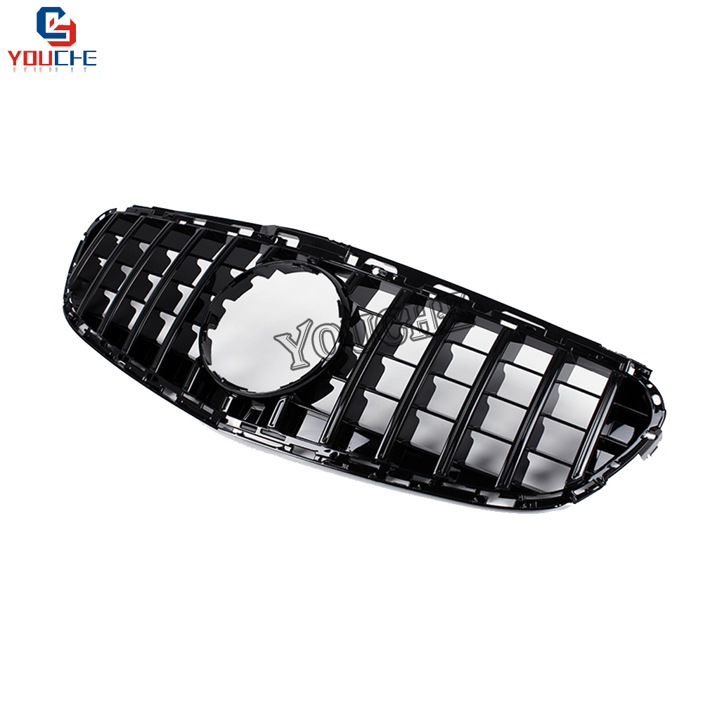 W212 GT Grille Replacement Front Grill for Mercedes E W212 Sports AMG Package 4 door Sedan 2014 2015 2016 Black Grille-in Racing Grills from Automobiles & Motorcycles    3