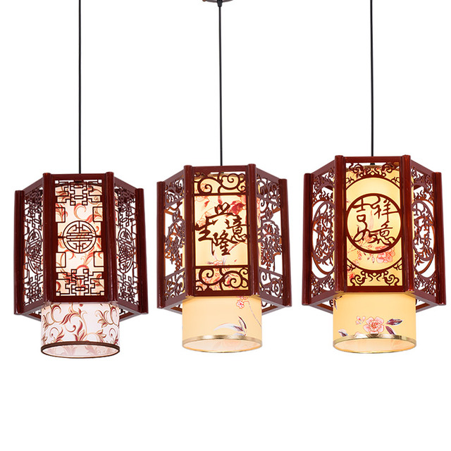 Lamps chinese small chandelier simple wood staircase corridor lamps chinese small chandelier simple wood staircase corridor corridor retro imitation sheepskin bar single head balcony audiocablefo