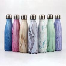 Красочная деревянная текстура печатная бутылка для воды 500