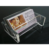 Free Shipping Clear Plastic Business Card Holder Display Stands Shelf