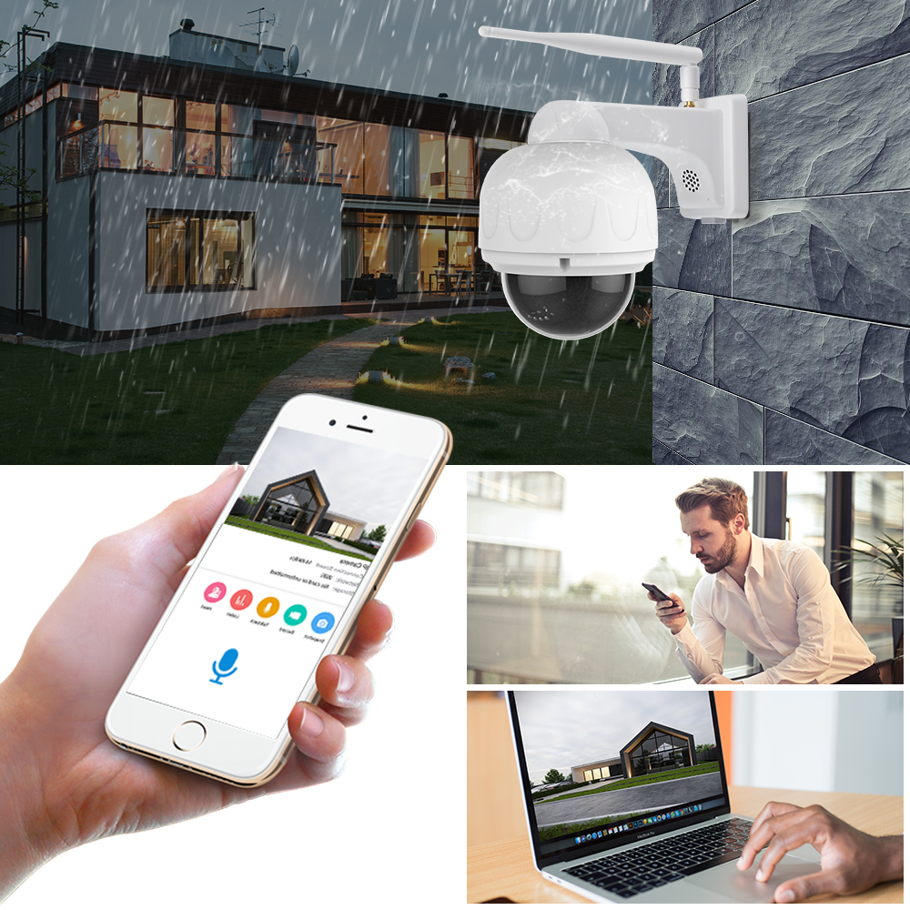 Vstarcam 1080P IP Kamera 4X Zoom IP66 Wasserdichte Outdoor Wifi Kamera Autofokus PTZ CCTV Überwachung Sicherheit Kamera IR nacht - 4
