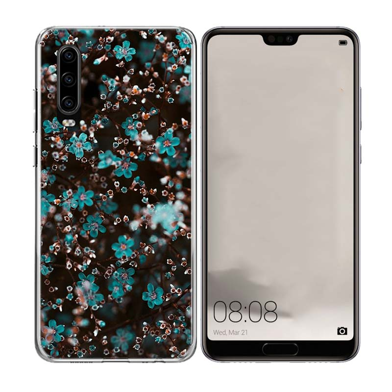 All Kinds Flowers Silicone TPU back Case For Huawei P8 P9 P10 Lite P20 P30 Litte Pro Gift P Smart Nova 4 Customized Coque Capa in Half wrapped Cases from Cellphones Telecommunications