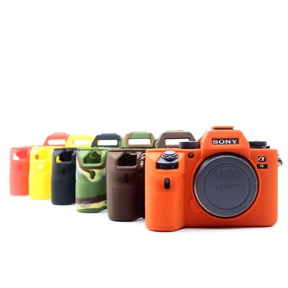 New Soft Silicone Camera case bag for Sony A9 A7 III A7III A7R3 A7Mark 3 Rubber Camera case Protective Body Cover Skin