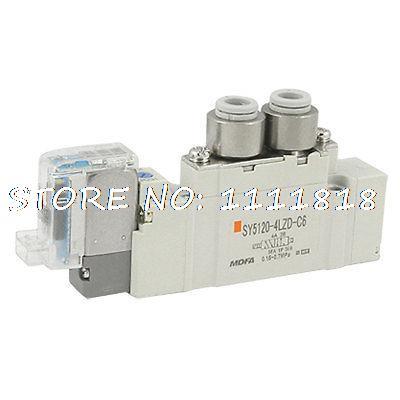 Push Turn Locking Lever AC 220V 5 Way Solenoid Valve pc400 5 pc400lc 5 pc300lc 5 pc300 5 excavator hydraulic pump solenoid valve 708 23 18272 for komatsu