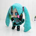 24cm VOCALOID Hatsune Miku Smiling Anime Plush Toy Doll Free Shipping
