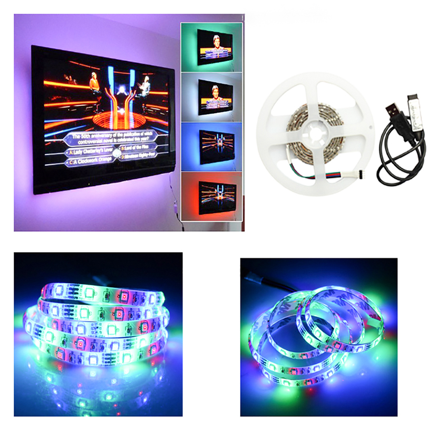 12V LED Strip SMD5050 RGB Strips New USB Light Bar TV Background Controll Outdoor Light Strip Bicycle TV Decorative Lights