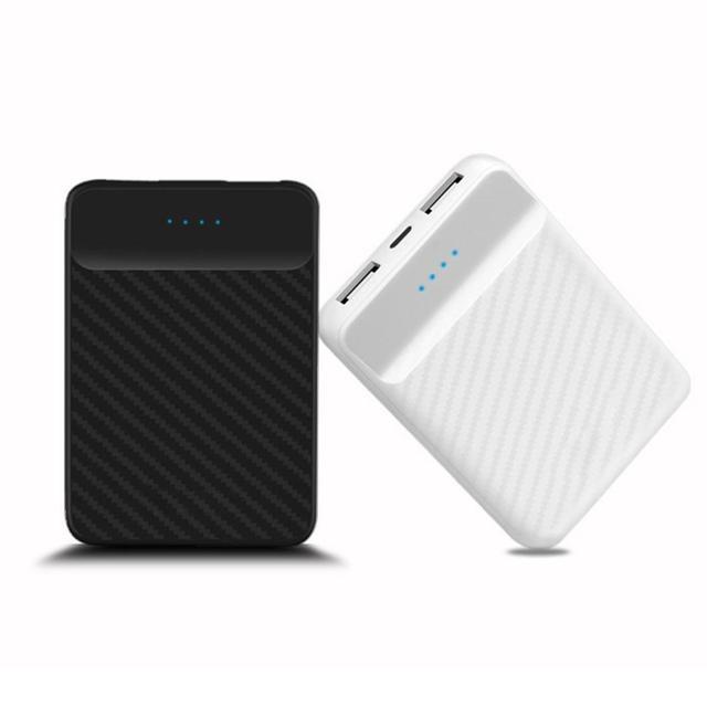 Mini banco de potencia 20000 mah Powerbank batería externa Dual USB carga portátil pantalla LCD cargador de Poverbank para Xiaomi Samsung